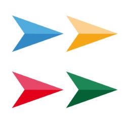 Vinilo adhesivo para suelo - flechas diseño