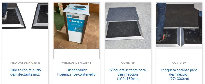 dispensador higienizante+deposito de basura