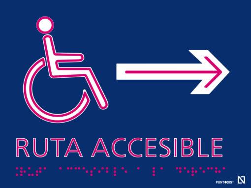 Placa accesible derecha braille