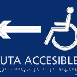 Placa accesible izquierda braille