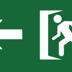 placa fotoluminiscente salida izquierda