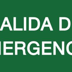 Placa fotoluminiscente salida emergencia
