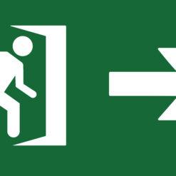 placa fotoluminiscente salida derecha