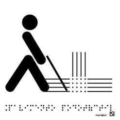 Placa pavimento podotáctil braille