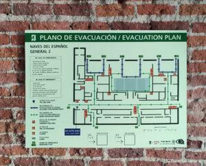 Planos de evacuación y emergencia accesibles