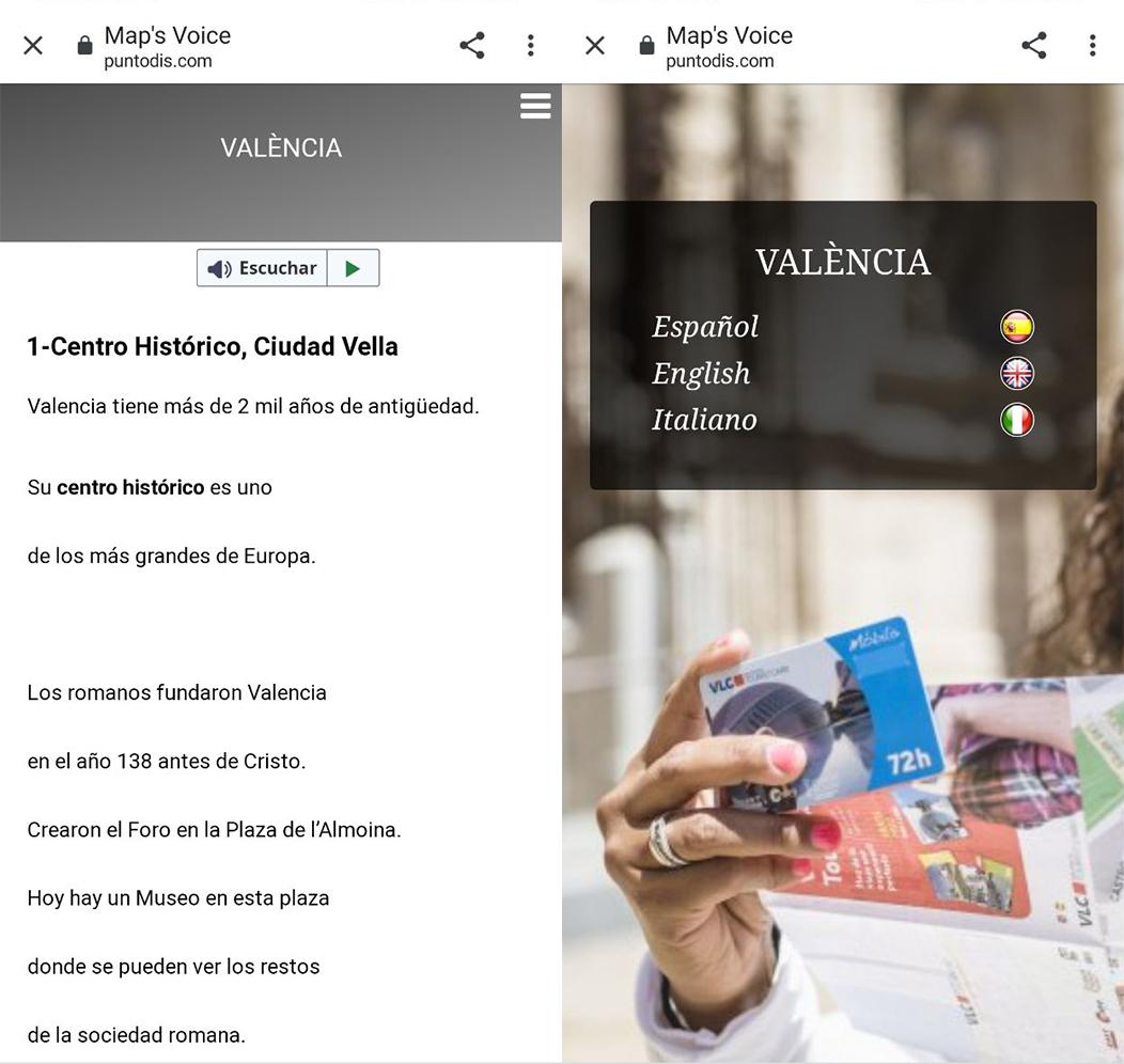 Map's Voice Valencia