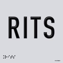 Placa edificación RITS braille