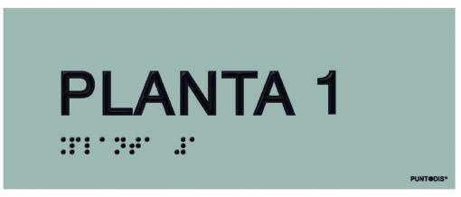 Placa planta 1 braille