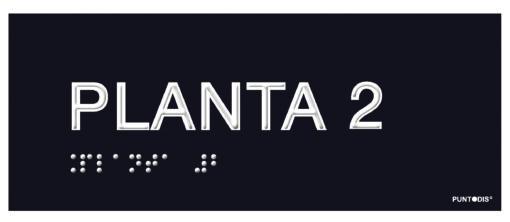 Placa planta 2 braille