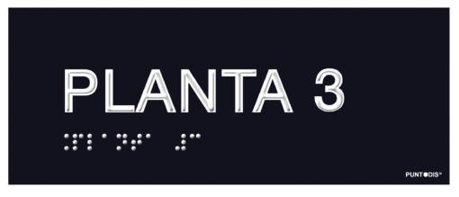 Placa planta 3 braille