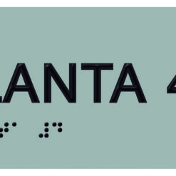 Placa planta 4 braille