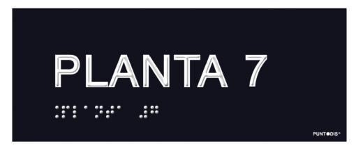 Placa planta 7 braille