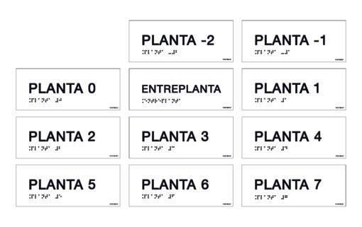 pack placas señalización plantas braille