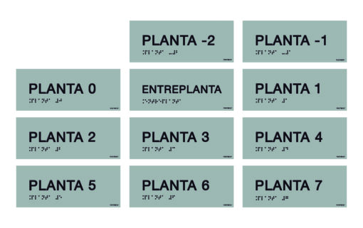 placas señalización plantas braille