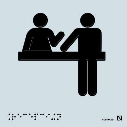 Placa recepción en braille