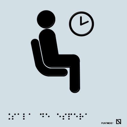Placa sala de espera en braille