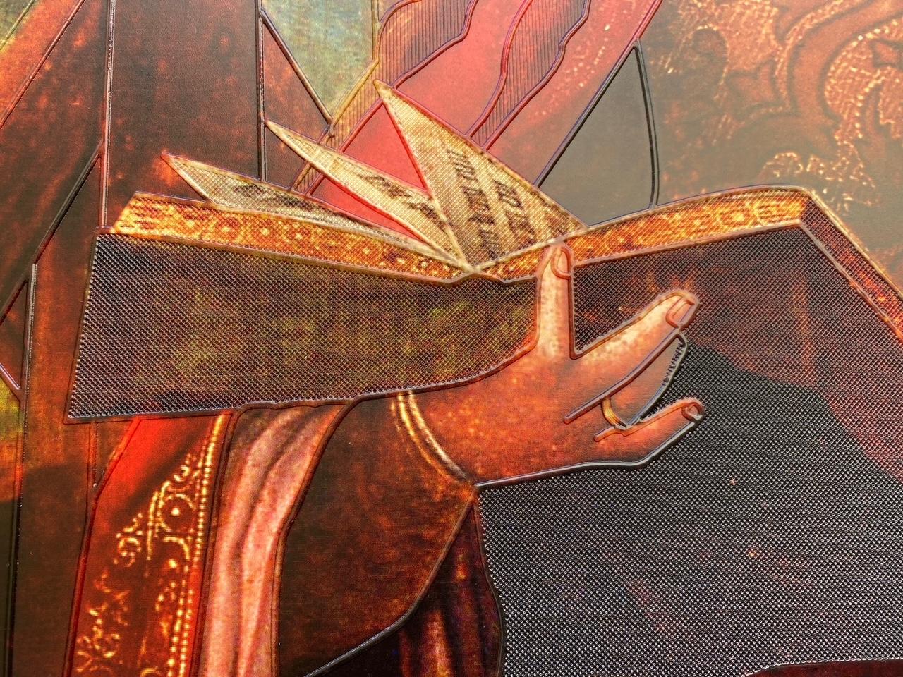 Tabla de Santa Catalina con textura para museo accesible