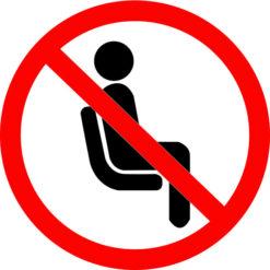 Vinilo adhesivo prohibido sentarse covid 19