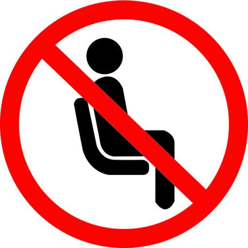 vinilo prohibido sentarse covid 19