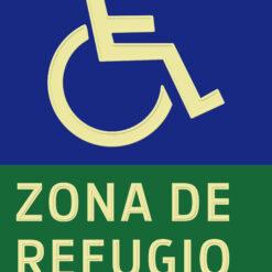 Placa fotoluminiscente zona refugio