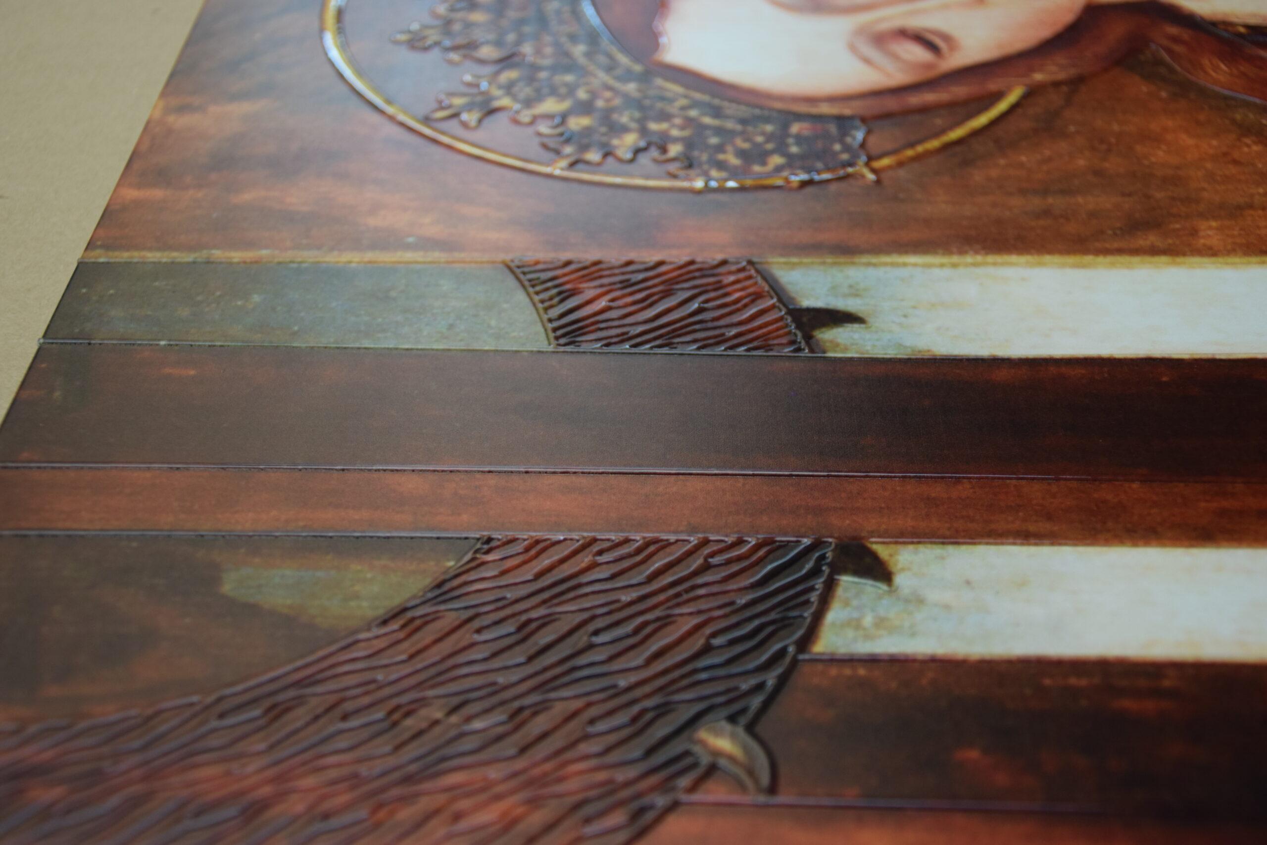 cuadro con textura para museo accesible